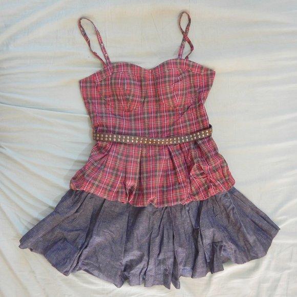 Twelve by Twelve Dresses & Skirts - Plaid & Denim Dress